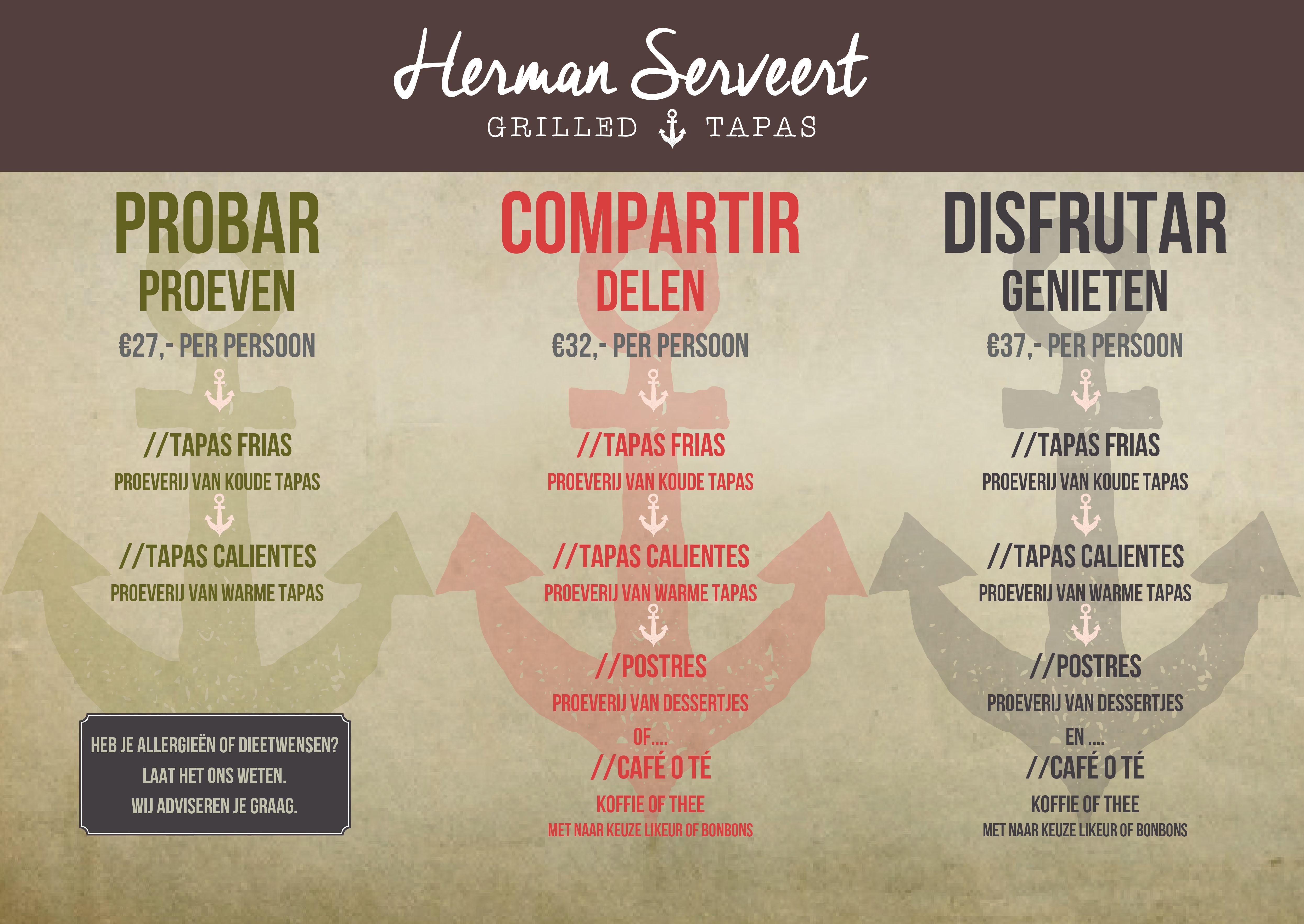 menukaart voorkant 2017 Herman Serveert juli